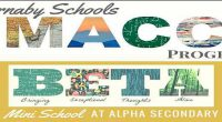 The Burnaby School, District Advanced Learning Team, invites Parents and Guardians of Grade 3 and Grade 7 students to attend Information sessions: for Gr. 3 Students – MACC Info Flyerand […]